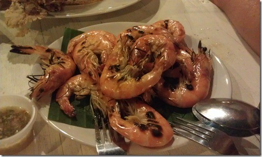 Cicada market Хуа-Хин креветки на гриле